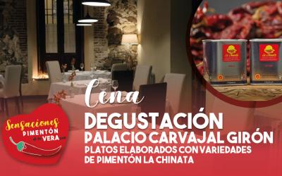 Cena Degustación con Pimentón La Chinata en El Hotel Palacio Carvajal Girón
