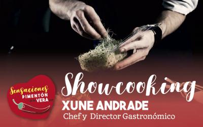 AFORO COMPLETO SHOWCOOKING con Xune Andrade