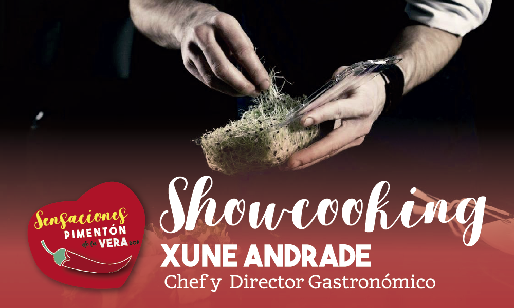 AFORO COMPLETO SHOWCOOKING con Xune Andrade