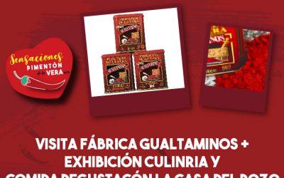 """Visita fábrica de pimentón """"Gualtaminos"""", exhibición culinaria y comida degustación"""