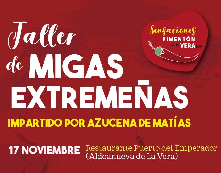 TALLER DE MIGAS EXTREMEÑAS