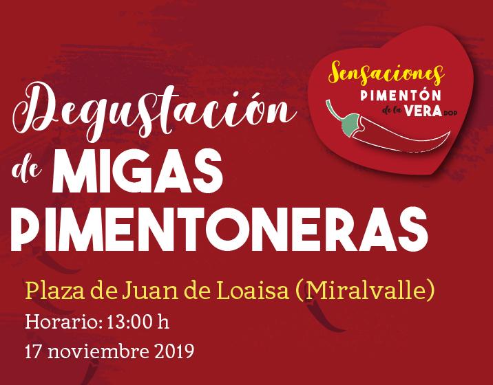 DEGUSTACIÓN DE MIGAS PIMENTONERAS SOLIDARIAS