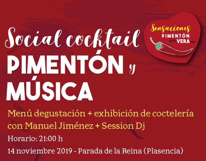 SOCIAL COCKTAIL + PIMENTÓN + MÚSICA